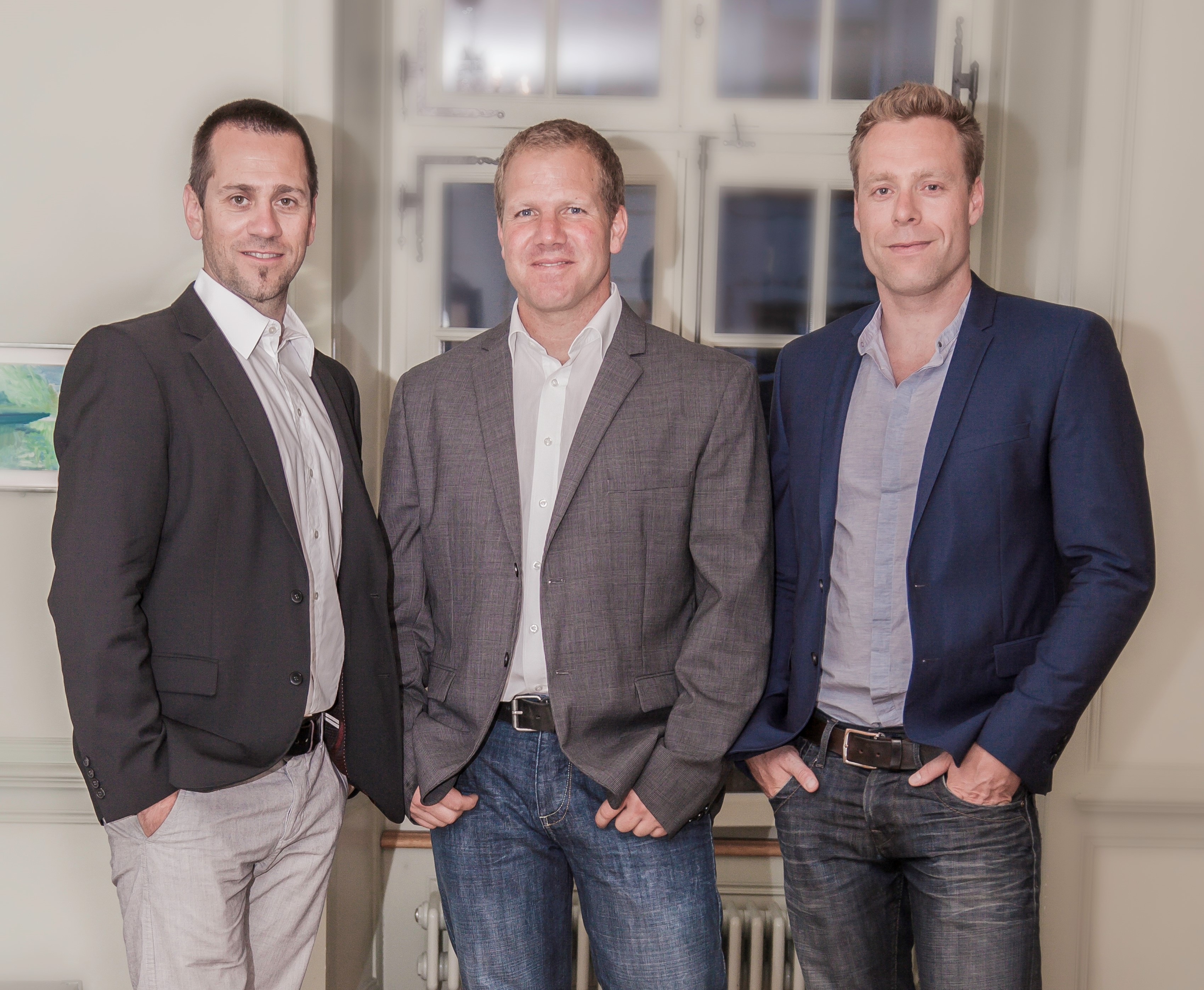 Founders' Team of Bodygee: Marcel Frikart, Oliver Fuchs, Jan Alther