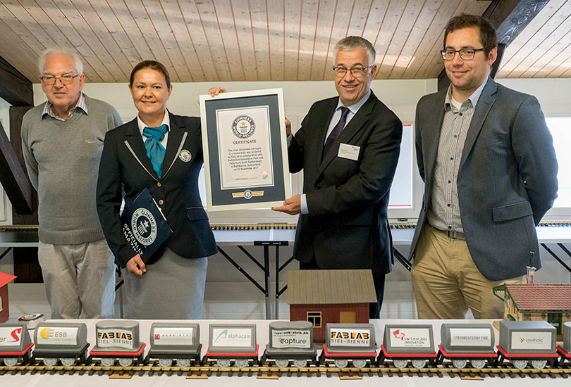The new FABLAB at Switzerland Innovation Park Biel/Bienne (SIP BB) opens with a new world record