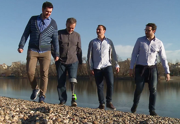 Amputees merge with their bionic leg