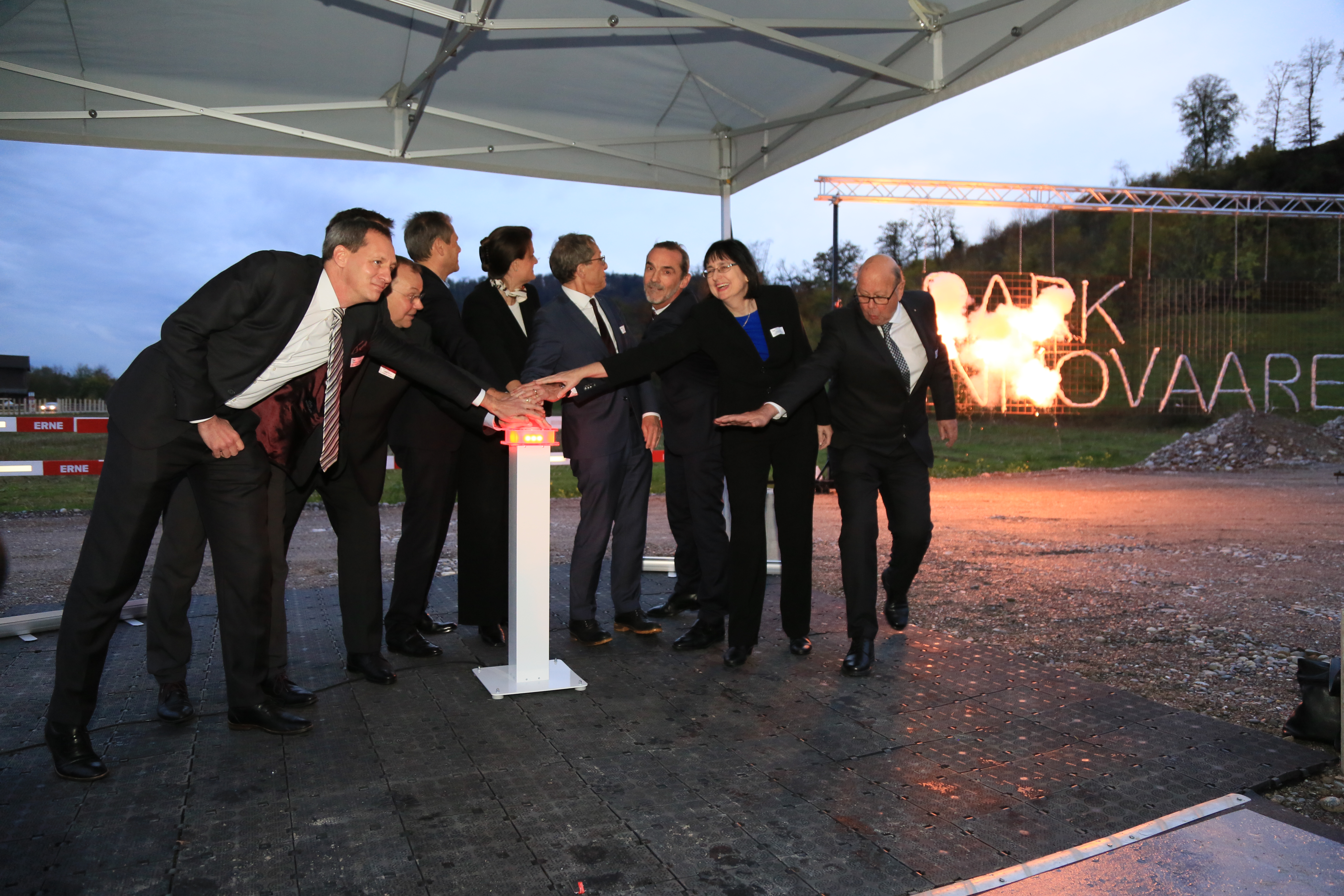 Lighting ceremony of the SIP innovaare symbol & groundbreaking of the new innovation campus