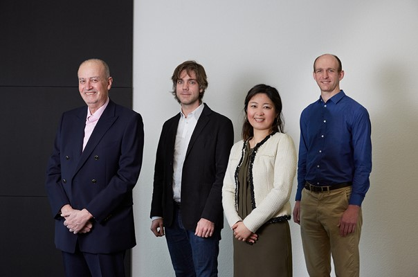 Photo (from left to right): Prof. Raymond Mirabell (CSO/co-founder), Dr Marcus Palm (CTO/co-founder), Dr Christina Vallgren (CEO/co-founder), Dr Ben Brunt (Senior Data Scientist)