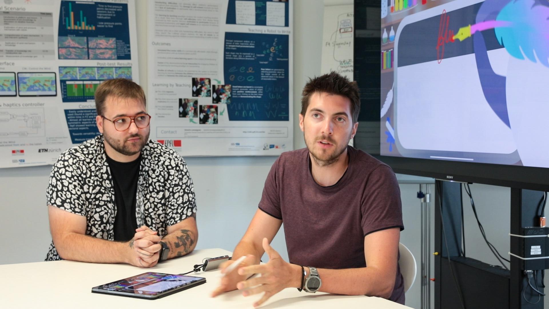 Sven Viquerat, designer, and Thibault Asselborn, CEO of School Rebound © 2021 Alain Herzog