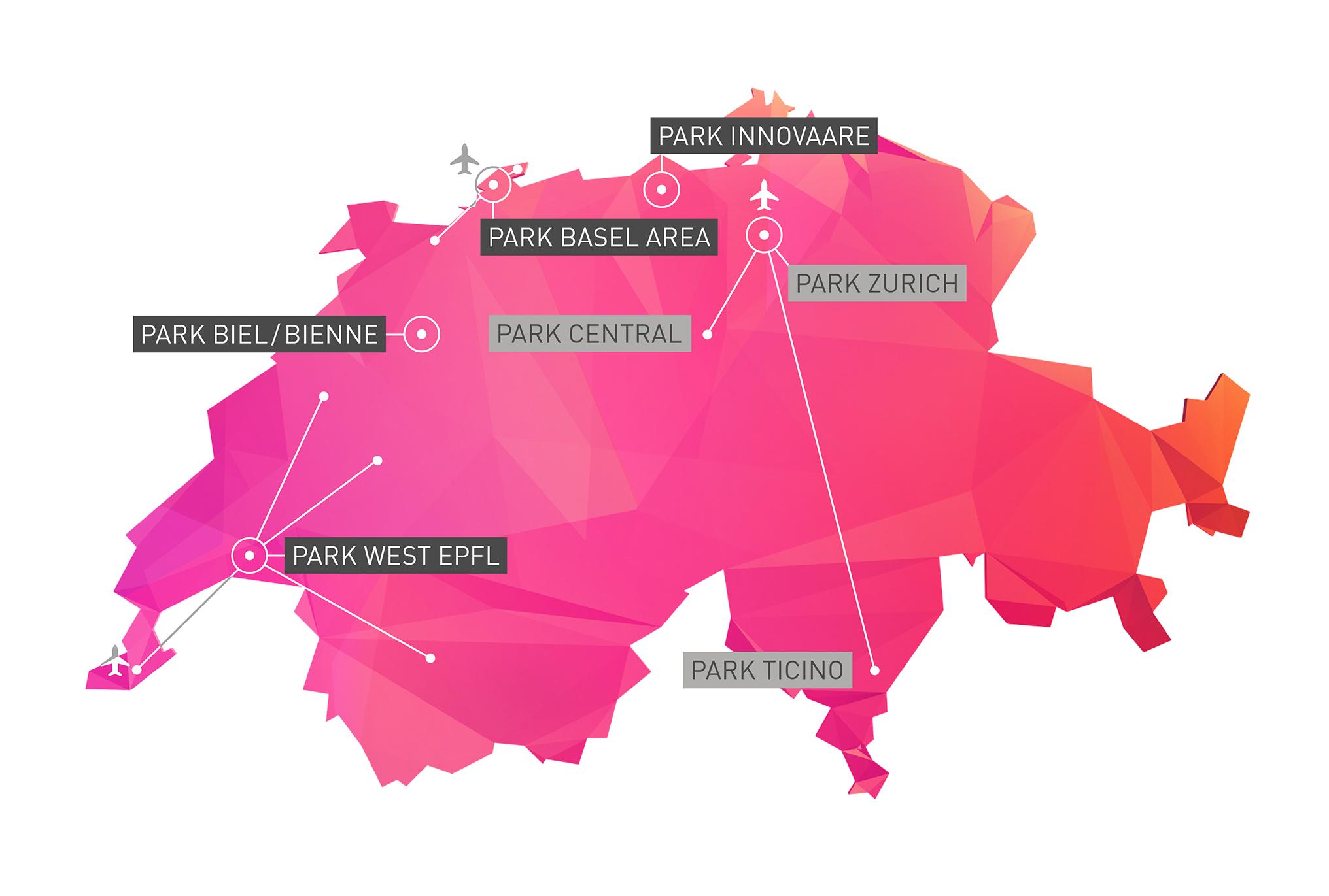 Innovation Network Zurich, Central, Ticino