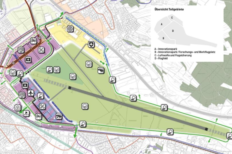 Zielbild Gebietsentwicklung Flugplatz Dübendorf